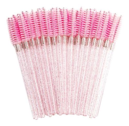 50 Escovinhas Descartáveis Glitter Extensão De Cílios Brilho