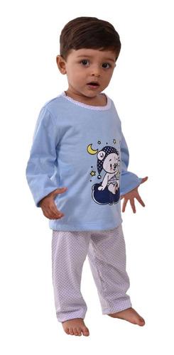 Kit 3 Pijamas Infantil Menino Menina Longo De Inverno