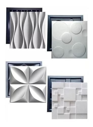 4 Formas Pra Gesso 3d E Cimento Abs 1,3mm Monte O Seu Kit