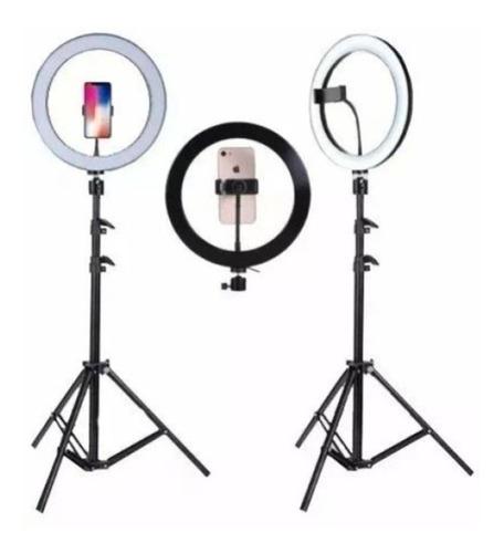 Ring Light Iluminador Anel Luz 30cm 12 Polegadas Tripé 2, 1m