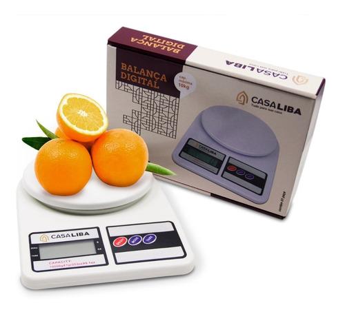 Balança De Cozinha Digital Alta Precisão 1g À10 Kg Casa Liba