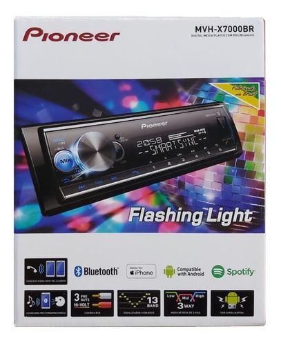 Auto Radio Pioneer Mvh-x7000br Bluetooth Mixtrax Karaoke