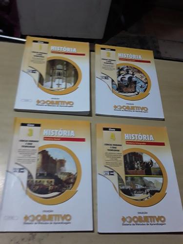 Livros Coleção Objetivo História 1,2,3 E 4 - 04 Volumes
