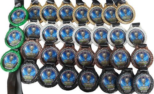 70 Medalhas Personalizadas + 25 Troféus
