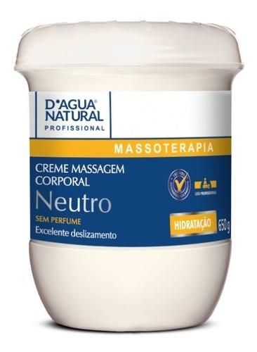 Creme Massagem Corpo Neutro Sem Perfume 650g Dagua Natural