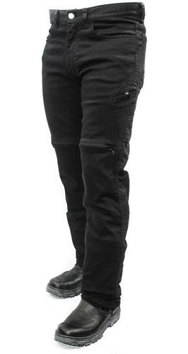Calça Jeans Com Proteção Moto Masculina Hlx Slim