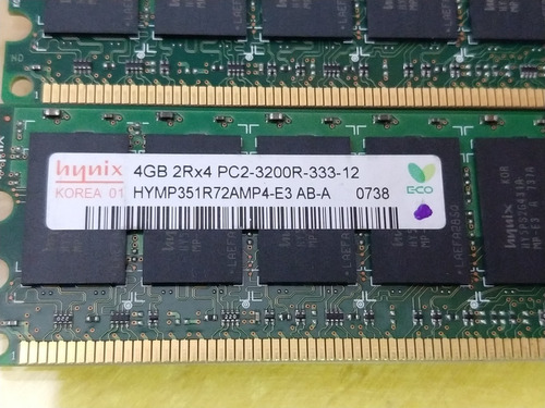 Memoria Servidor Hynix 4gb Pc2-3200r Ddr2-400mhz Ecc Reg Cl3