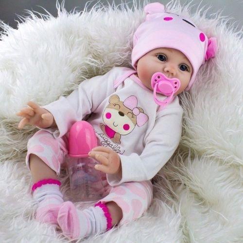 22  Realista De Silicona Recién Vinilo Regalo Reborn Baby Do