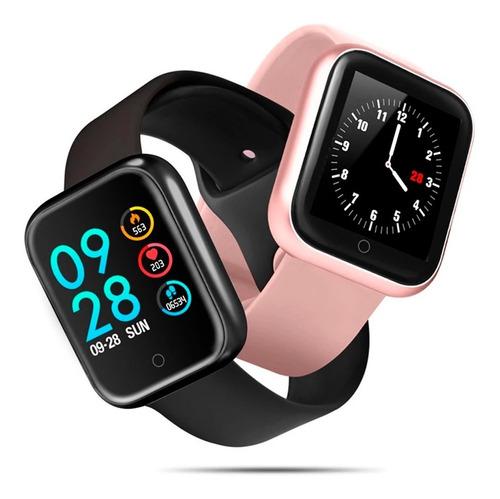 Smart Watch Relógio Inteligente Tracker P70 Sports Fitness Compatível Apple Samsumg LG Xiaomi Pronta Entrega 2 Pulseiras