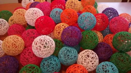 Esferas De Hilo.  Esferas , Bolas, Pelotas, Deco