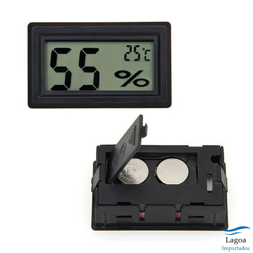 Termômetro Lcd Digital De Temperatura E Umidade - Higrômetro
