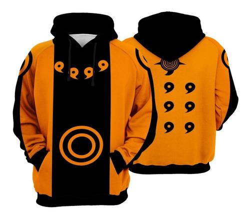 Blusa Moletom Naruto Uzumaki Full 3d Sem Juros!