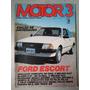 Revista Motor 3 Nº37 Julho 1983 Escort Blazer Fiat Oggi R457