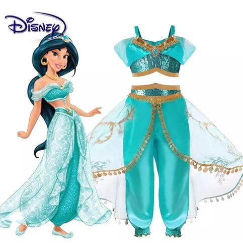 Fantasia Jasmine Infantil Luxo - Disney Princesas