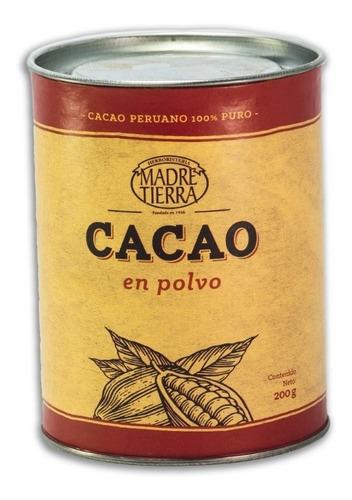 Cacao En Polvo Peruana Madre Tierra 200g