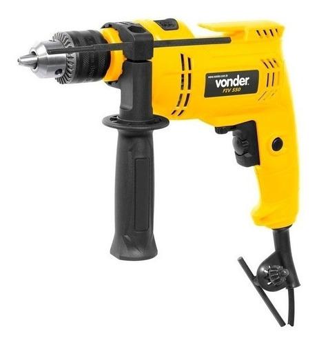 Furadeira Elétrica De Impacto Vonder Fiv 550n 2800rpm 550w Amarelo 127v
