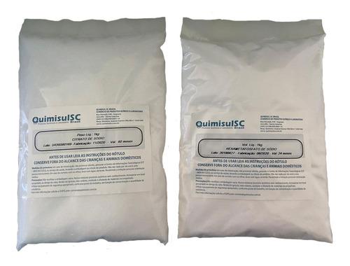 Citrato De Sódio 500g + 250g Hexametafosfato De Sódio
