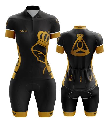 Conjunto Feminino Uniforme Ciclista Roupa Para Ciclismo