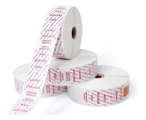 Etiquetas Lacre Segurança 35x100 Delivery Pizzaria 1.000 Und
