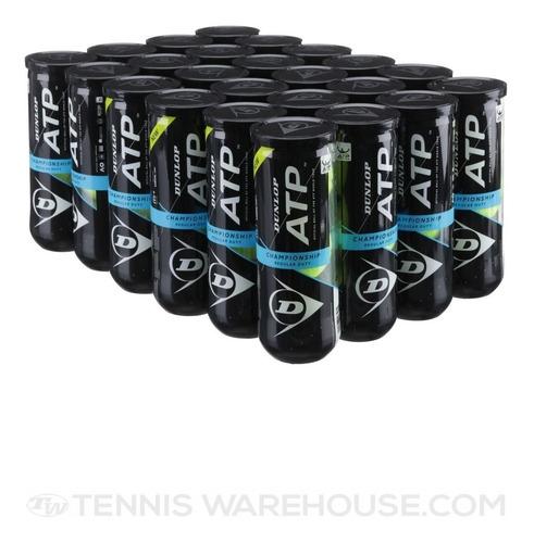 24 Tubos De  Pelotas Tenis Dunlop Atp Championship (halcry)