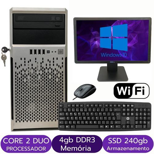 Computador Torre Intel Core 2 Duo 4gb Ssd 240gb + Monitor
