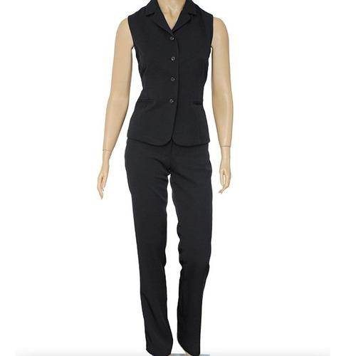 Colete Social Feminino E Calça Conjunto Uniforme Fabricante