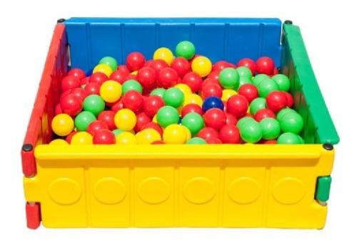 Cercadinho  Baby Mini Piscina Bolinhas Colorida S/ Bolinhas