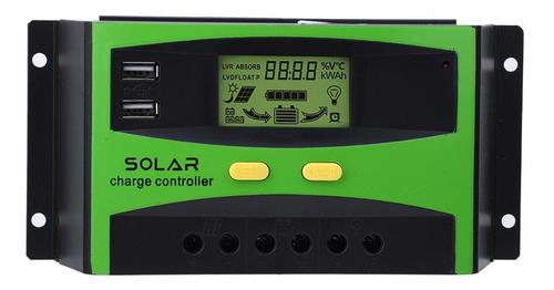 Controlador De Carga Solar 30a 48v Regulador De Carga Solar