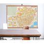 Mapa Estado Minas Gerais Banner Moldura 120x90cm Laminado