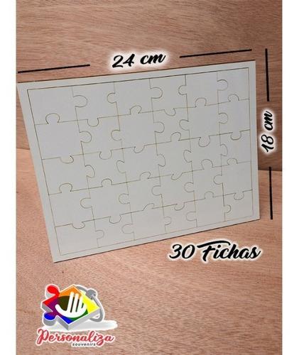 Rompecabezas Sublimacion- Insumo- Espaldar  Madera Mdf 4mm