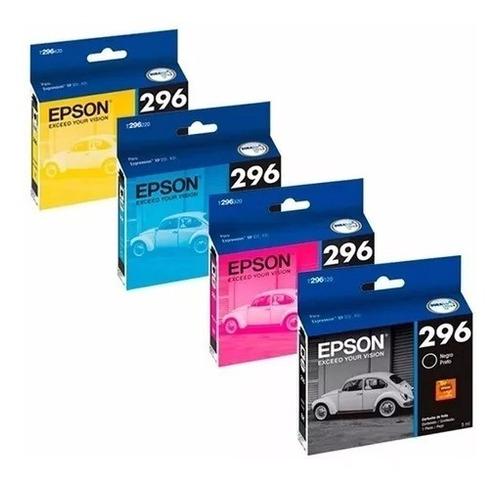 Cartuchos Epson 296 Original Xp231 431 241 X4 Combo Fac. A/b