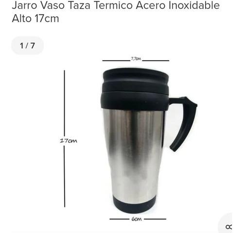 Jarro Vaso Termico Acero Inoxidable Doble Capa Con Tapa