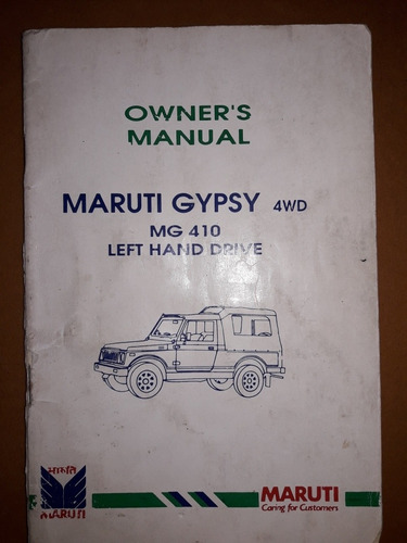 Manual Usuario Maruti Gypsy 4x4