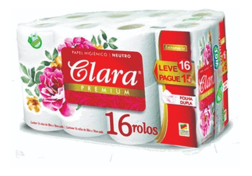 Papel Higienico Clara  Doble Hoja 16 Rollos