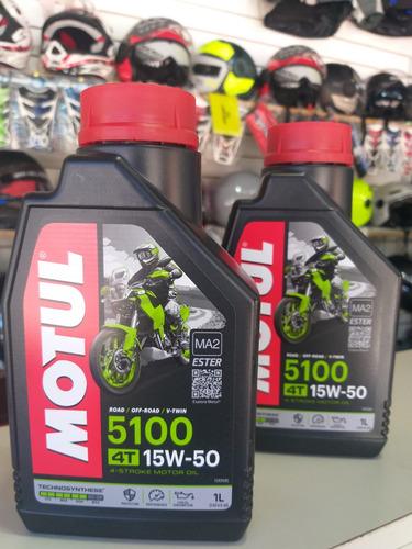 Aceite Motul 5100 4t 15 W-50 Semisintético Solo En Mb Bikes