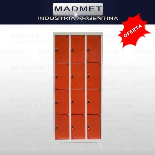 Locker Bolsero Metal 12 Casill-35cm Prof-p/candado-colores