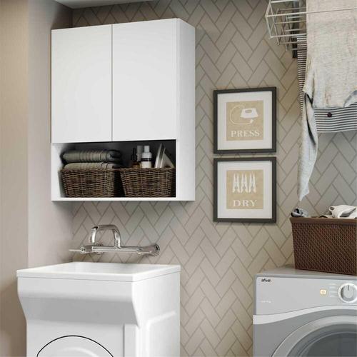 Armário De Banheiro/lavanderia Com 02 Portas Multimóveis