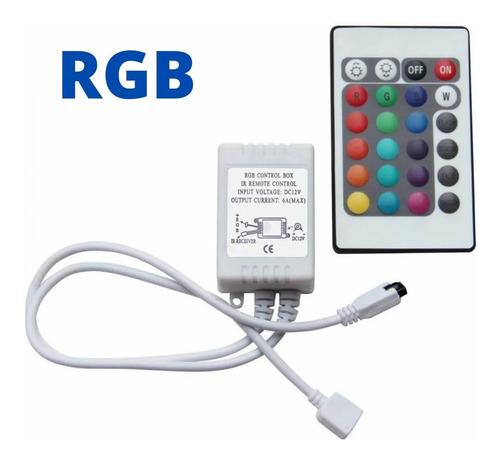 01 Kit Controle Controlador Para Fita Led Rgb 3528 E 5050