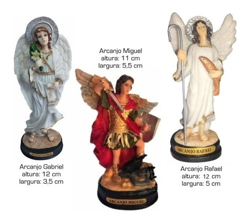 Imagens Arcanjo Gabriel, Miguel E Rafael Em Resina