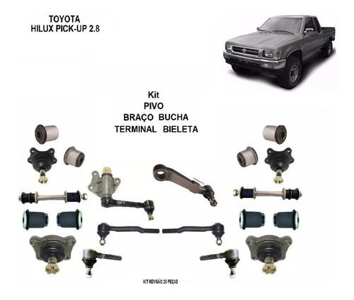 Kit Pivo Terminal Braco Bucha Hilux Pickup 2.8 1996 Ate 2004