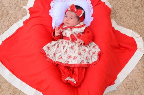 Saída De Maternidade Menina Linda Cor 2 Nova 4 Peças