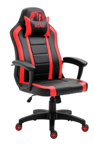 Cadeira Gamer Viper Snake Gaming Reclinável 0440 - Vermelha