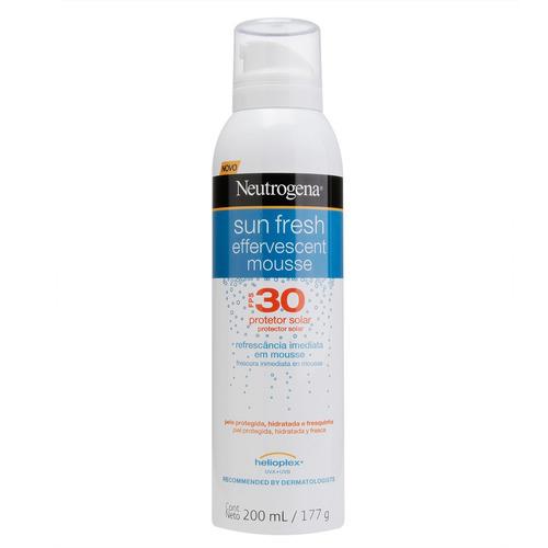 Protetor Solar Neutrogena Sun Fresh Mousse Efervescente  Fps30 200 Ml