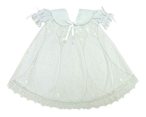 Vestido Bebê Renda Renascença Batismo Xique Xique Brasil