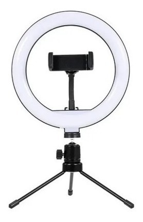 Anel Ring Light 8 Pol Tripé De Mesa Profissional