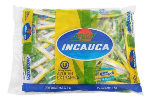 Azúcar Refinada Incauca Pqt*200 Sobres Polietileno