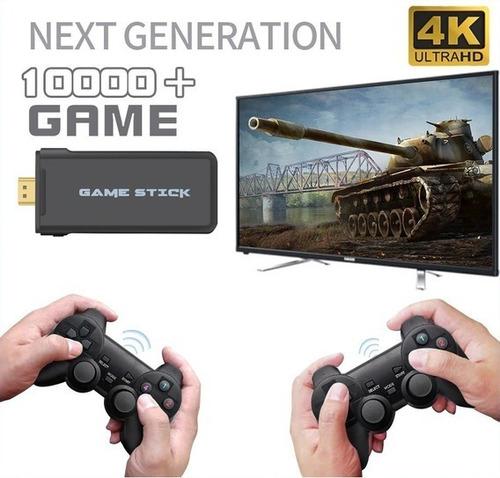 Video Game Stick 4k 10mil Jogos Retro 2 Controles Novo