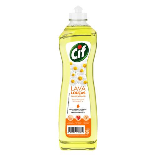 Detergente Cif Neutro Com Camomila Líquido Em Squeeze 420ml