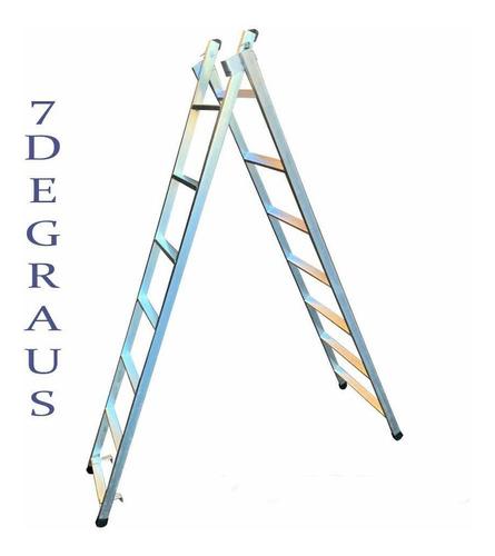 Escada Extensiva 7 Degraus 3x1 Metalon Pintor