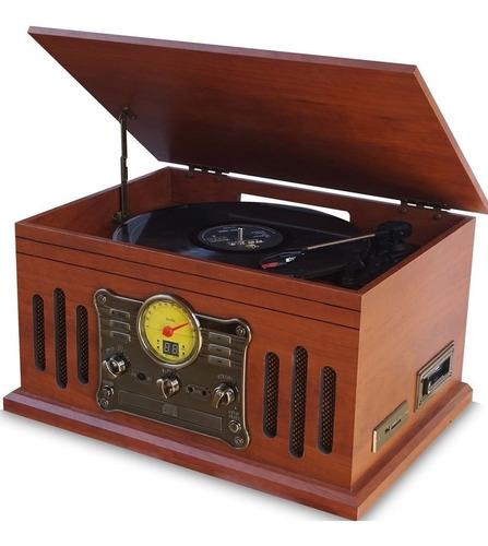 Vitrola Toca Discos Stadio Raveo Cd Bluetooth Gravação K7 Fm